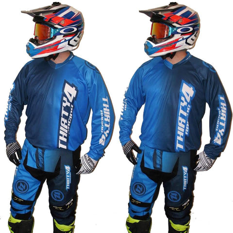MX Kit Combos - 2017 Thirty4 Racing Revolution Motocross/MX Kit Combos (Youth) Blue/Navy