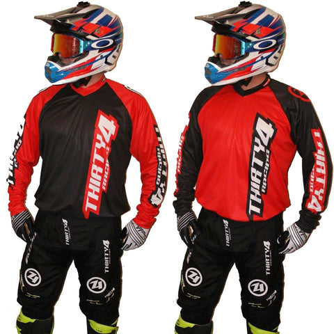 MX Kit Combos - 2017 Thirty4 Racing Revolution Motocross/MX Kit Combos (Youth) Red/Black Out