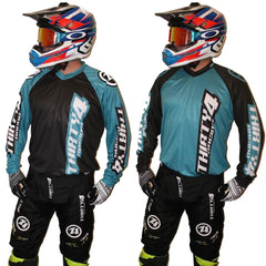 MX Kit Combos - 2017 Thirty4 Racing Revolution Motocross/MX Kit Combos (Youth) Teal/Black Out