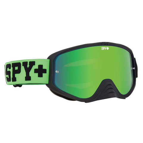 Spy Optics, Spy Optic Jersey Green Woot Race Goggle w/Smoke/Green Spectra Lens, [product_type],  [variant_title] - Specialty Motorsports