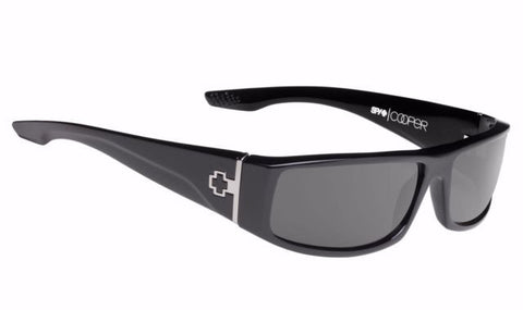 Cooper Polarized Sunglasses Black Happy Gray Green Polar