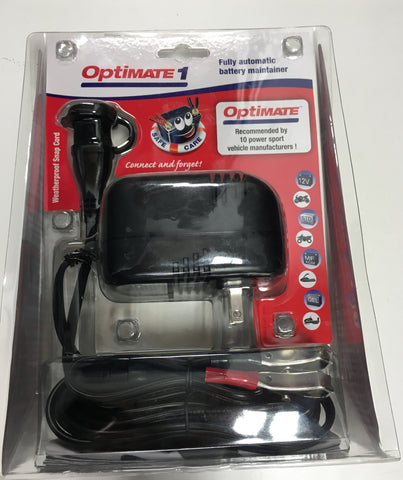 TecMate OptiMate 1 - 12-Volt Battery Charger & Maintainer - Tec Mate - [product_type] - Specialty Motorsports