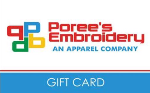 Poree's Embroidery Gift Card