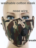 Camouflage Breathable Mask - Poree's Embroidery
