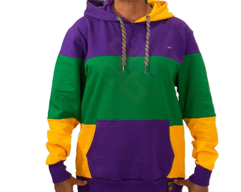 Mardi Gras Traditional Pullover Hooded Sweatshirt - Poree's Embroidery