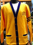 Gold and Purple Varsity Cardigan - Poree's Embroidery