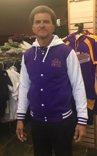 St. Augustine High School Cotton Fleece Letterman Jacket - Poree's Embroidery