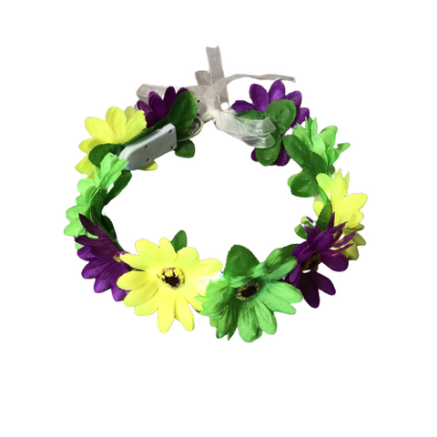 Mardi Gras Flowered Lighted Headband - Poree's Embroidery