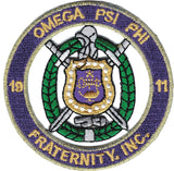 Omega Psi Phi Shield Embroidered Logo - Poree's Embroidery