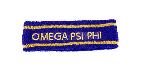 Omega Psi Phi Terry Headband - Poree's Embroidery