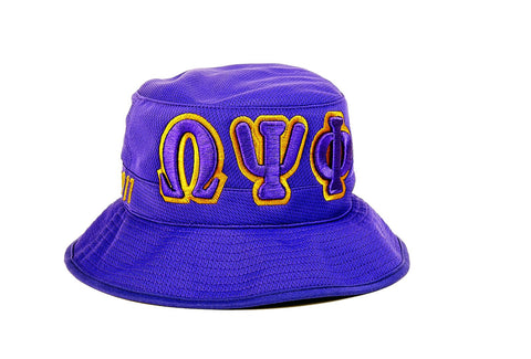 Omega Psi Phi Bucket Hat - Poree's Embroidery