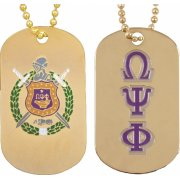 Omega Psi Phi Gold Dog Tags - Poree's Embroidery