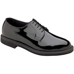 Patent Leather Oxford Shoes - Poree's Embroidery