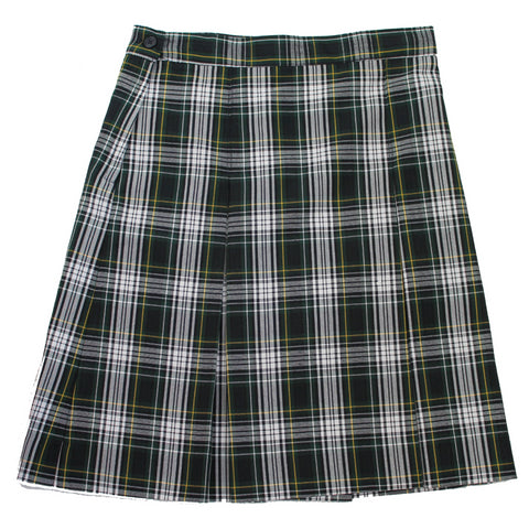 Plaid #61 Skirt (Green, White, and Yellow Plaid) - Poree's Embroidery