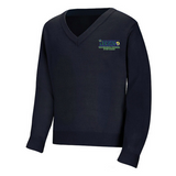 International High School of New Orleans V-Neck Sweater - Poree's Embroidery