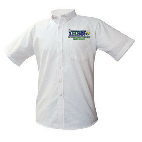 International High School of New Orleans White Oxford Shirt (Seniors Only - Poree's Embroidery