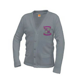 Warren Easton Grey Cardigan Sweater - Poree's Embroidery
