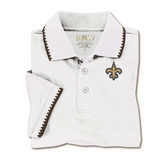 New Orleans Saints Fleur De Lis Mens Knit Polo Shirt