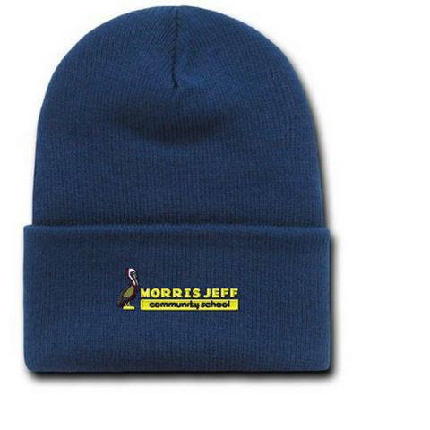 Morris Jeff Community High School Beanie Hat - Poree's Embroidery