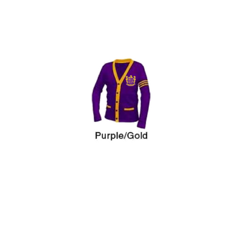 Edna Karr High School Varsity Cardigan Sweater - Poree's Embroidery