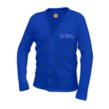 New Orleans Science and Math Cardigan Sweater (Royal Blue) - Poree's Embroidery