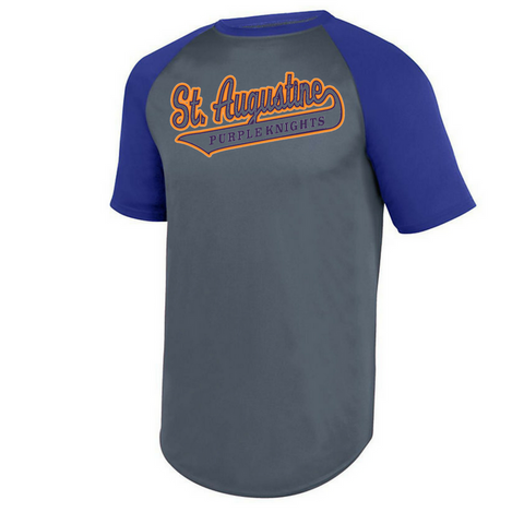 Fanwear-St. Augustine Swoosh Wicking Short Sleeve Baseball Jersey - Poree's Embroidery