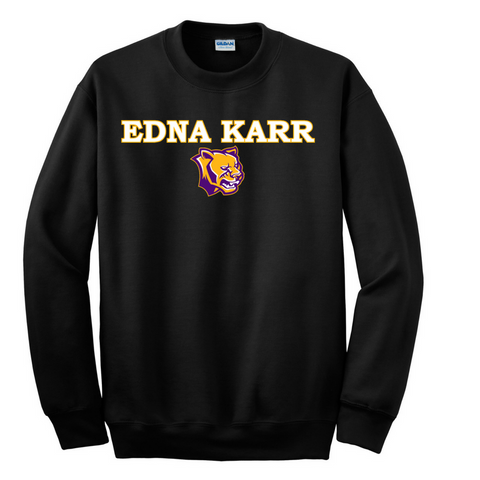 Fanwear: Edna Karr High School Crewneck Sweatshirt - Poree's Embroidery