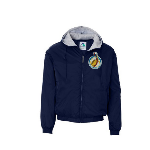 New Logo: Morris Jeff Community School Navy Hooded Jacket