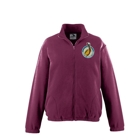 Morris Jeff Community School Maroon Fleece Jacket - Poree's Embroidery