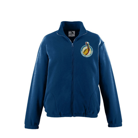 Morris Jeff Community School Navy Fleece Jacket - Poree's Embroidery