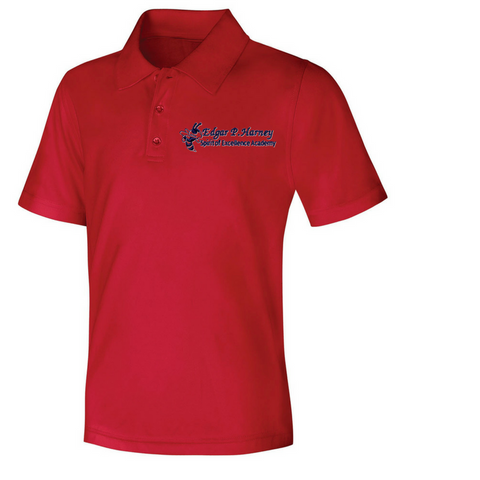 Edgar P. Harney Elementary School Polo Shirt (Red)