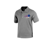 Mary D. Coghill Grey Polo Shirt (5th-8th Grade) - Poree's Embroidery