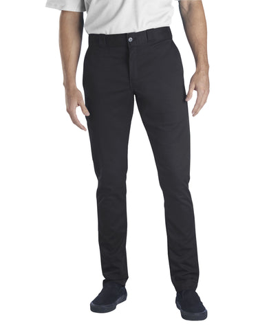 Dickies Flex Skinny Straight Fit Pants (Black) - Poree's Embroidery