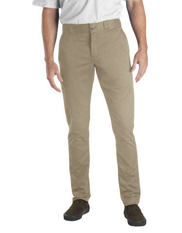 Dickies Flex Skinny Straight Fit Pants (Desert Sand) - Poree's Embroidery