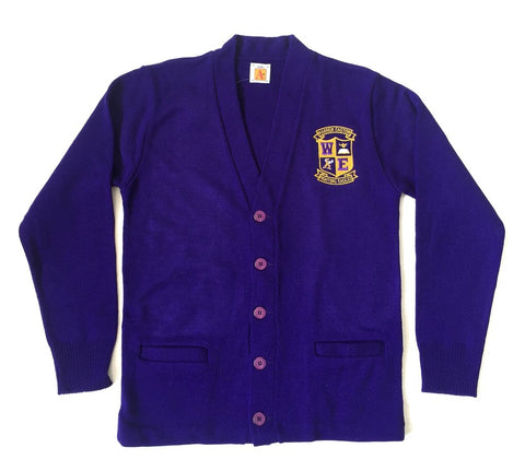 Warren Easton Purple Cardigan Sweater