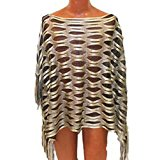 Black and Gold Cutout Poncho