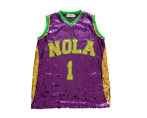 Mardi Gras NOLA One Sequin Jersey - Poree's Embroidery