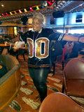 Black and Gold Sequin Numbered Jersey - Poree's Embroidery