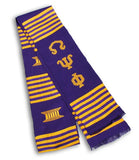 Omega Psi Phi Kente Stole - Poree's Embroidery