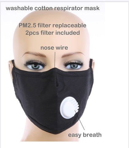 Breathable Respirator Face Mask - Poree's Embroidery
