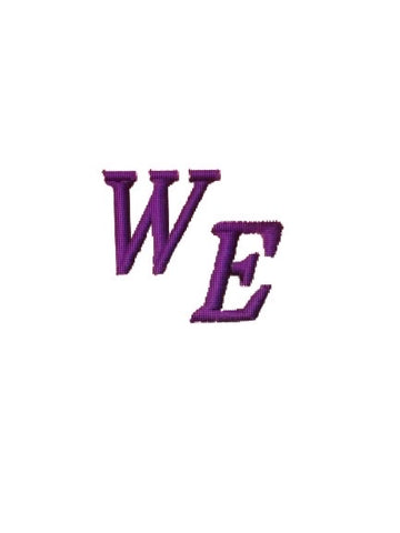 Warren Easton (WE) Logo - Poree's Embroidery