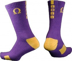 Omega Psi Phi Men's Crew Socks - Poree's Embroidery