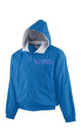 New Orleans Science and Math Hooded Jacket (Royal Blue) - Poree's Embroidery