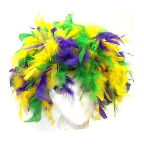 Mardi Gras Feather Boa Hat