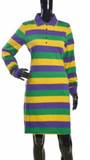 The Traditional Mardi Gras Striped Polo Shirt Dress