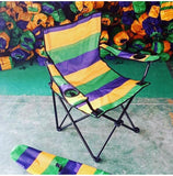 Mardi Gras Striped Collapsable  Chair