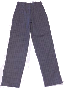 Plaid #99 Pants-Slim Fit Leg