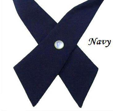Navy Blue Cross Tie