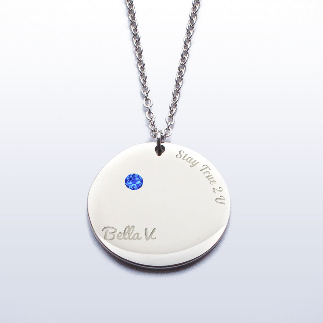 Stay True Birthstone Necklace
