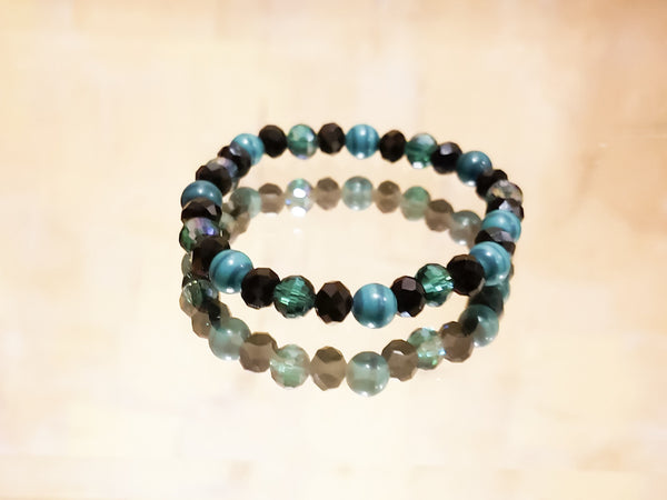 Sea Green beaded bracelet